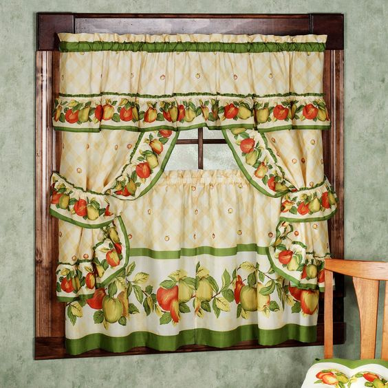 Curtains Ideas apple curtains for kitchen : Kitchen curtains vintage. Kitchen curtains vintage style. Retro ...
