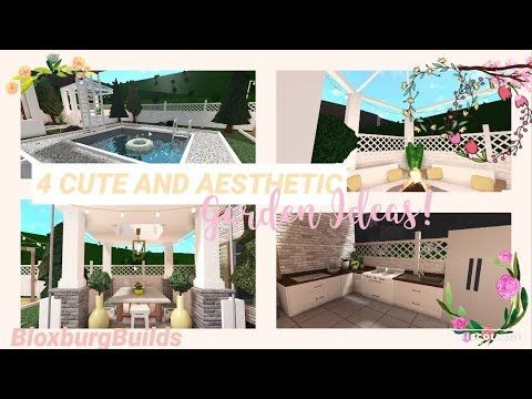 4 Cute And Aesthetic Garden Ideas Bloxburg Unique House Design Tiny House Layout Family House Plans