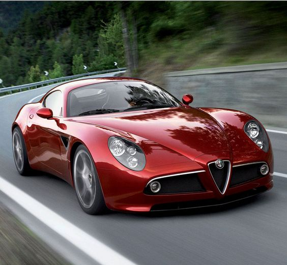 The Alfa Romeo 8C on the open road. Hit the image to see this incredible car hit the mountains... #spon