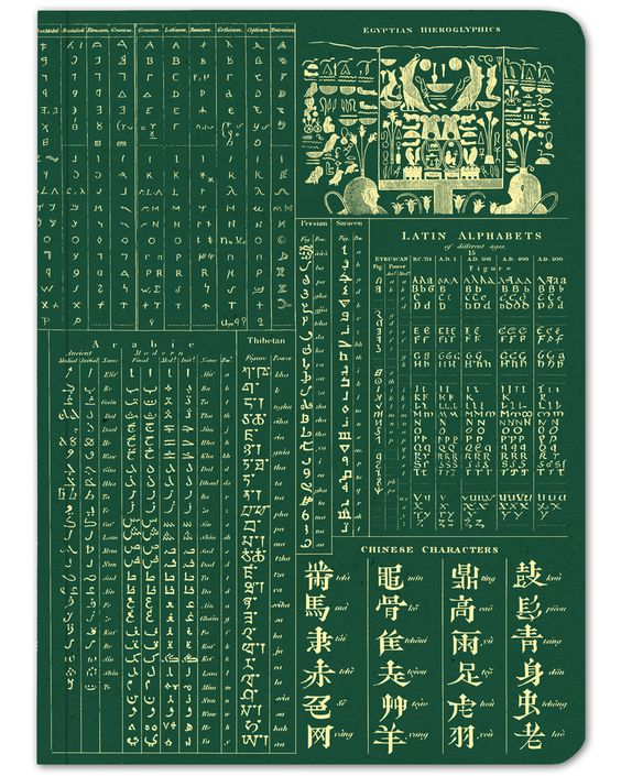 The Experiment Softcover Notebook Chinese characters, Arabic script, Egyptian…