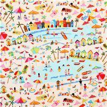 Tela color arena playa bañista verano de Timeless Treasures EE. UU.