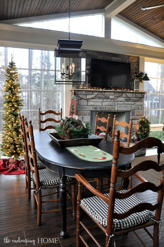Table Search Black Home Tours Hope Holiday Tables Skinny Back Porches