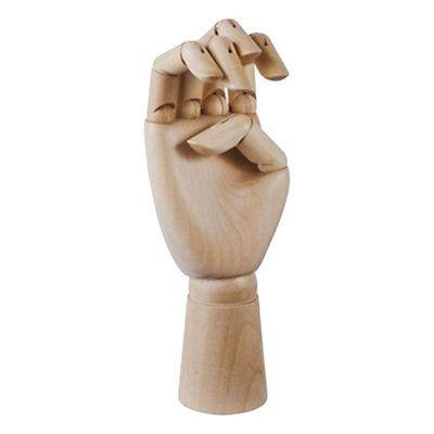 Main porte-bijoux articulée GM en bois - marron clair  h : 30 cm