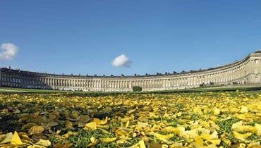 The Royal Crescent, Bath, UK - to touch a bit of Jane Austen history