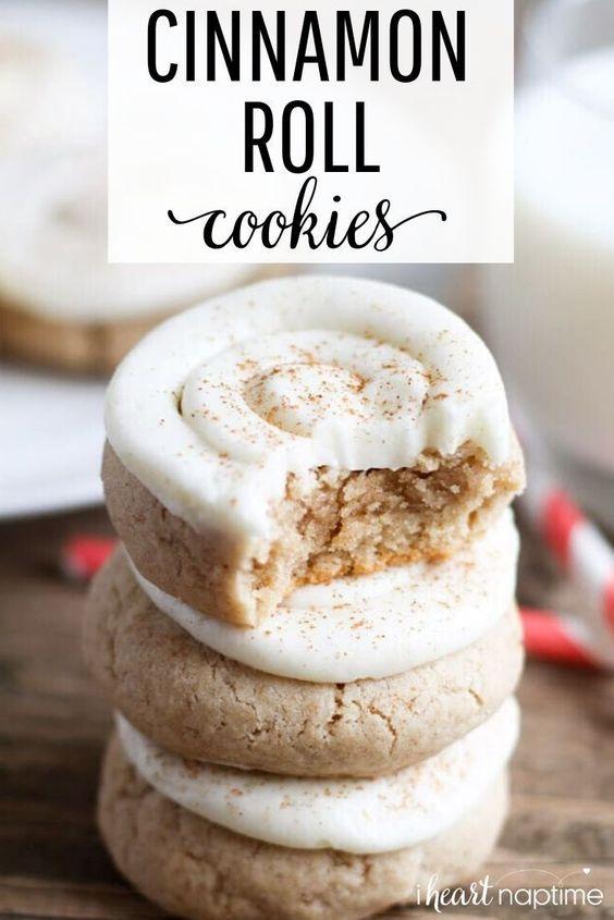 Soft Cinnamon Roll Sugar Cookies - I Heart Naptime