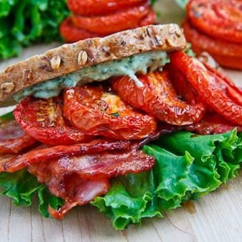 Slow roasting tomatoes brings out their flavour and this concentrated flavour takes your average BLT sandwich from great to amazing!