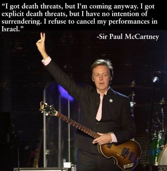 Sir Paul Shows Us How To Stand Up To Jew Hating BDS Scum