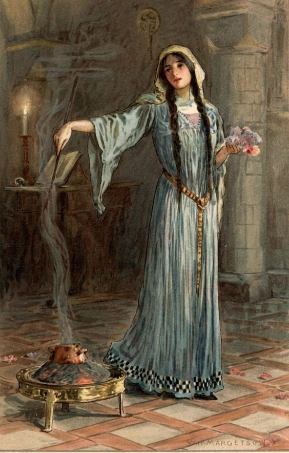 W H Margetson Morgan Le Fay Mystical Artistical