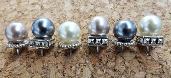 Pearl Pushpins by justynainteriors on Etsy