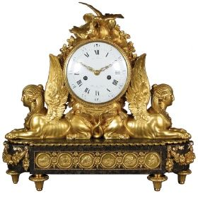 Pendule clock, 1785, by Jean-Baptiste Lepaute for the Comte d'Artois: