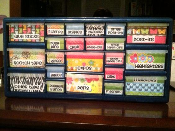 My way cute organizer!  @Pamela Kusinski