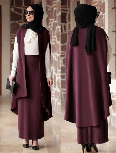 Tesettur Takim Elbise Modelleri 2019 Kadin Giyim Ve Moda Kadin Giyim Moda Takim Elbise