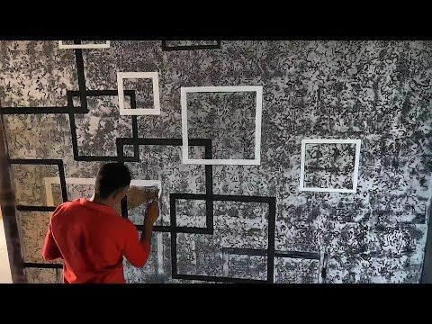 Wall Design Ideas Putty Texture To Decorate Room Masking Tape Youtube Wall Design Wall Texture Design Wall Painting Decor
