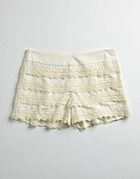 lace-trimmed shorts