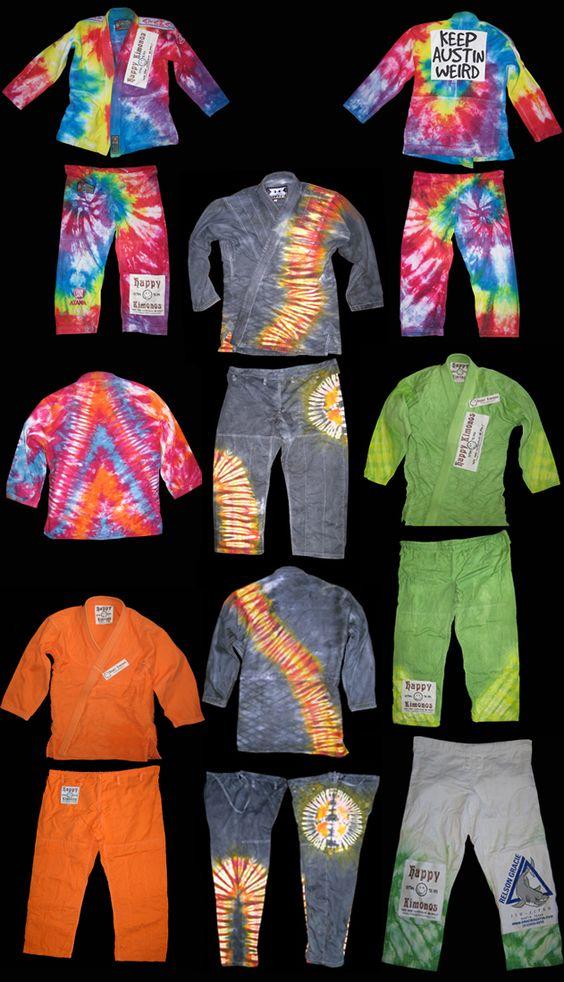 Home - Happy Kimonos: Custom dying and tie dye of Brazilian Jiu-Jitsu Kimonos, BJJ, Jiu Jitsu Gi and gis, MMA gear - mixed martial arts, Grappling, Submission, Children and youth gis, kimonos and martial arts.