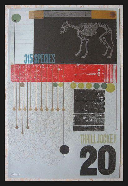 Like these Thrill Jockey prints from Dexterity Press.