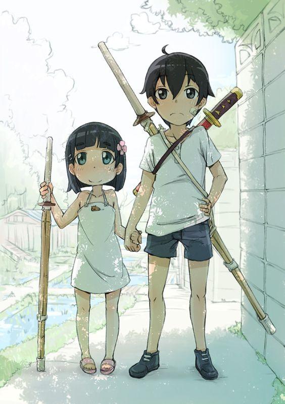 Suguha & Kazuto growing up.