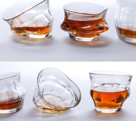不良品じゃないです。グニャリと溶けたようなグラス「Tipsy Melting Glasses」   Q ration(キューレーション)   QUAEL bags   クアエル