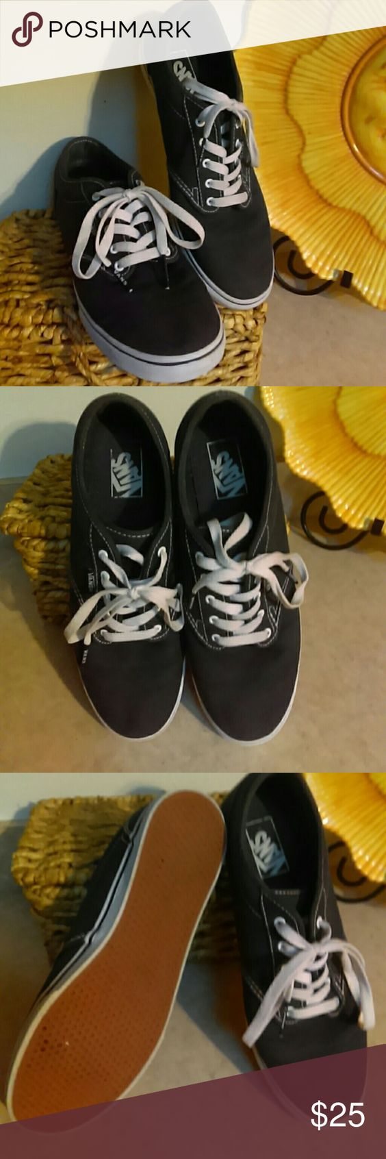 Size 10 Womens Low Pro Vans Size 10 Womens low pro navy blue Vans excellent condition with no wear on bottoms Vans Shoes Sneakers