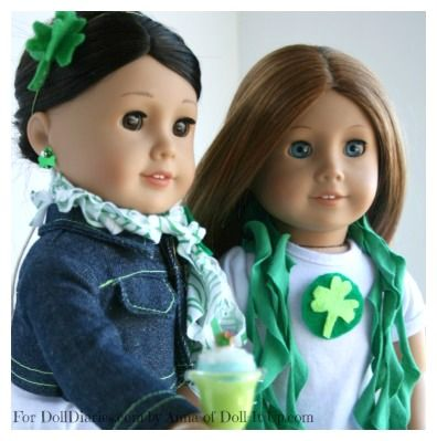 St. Patrick's Day Crafts: Shamrock accessories for dolls