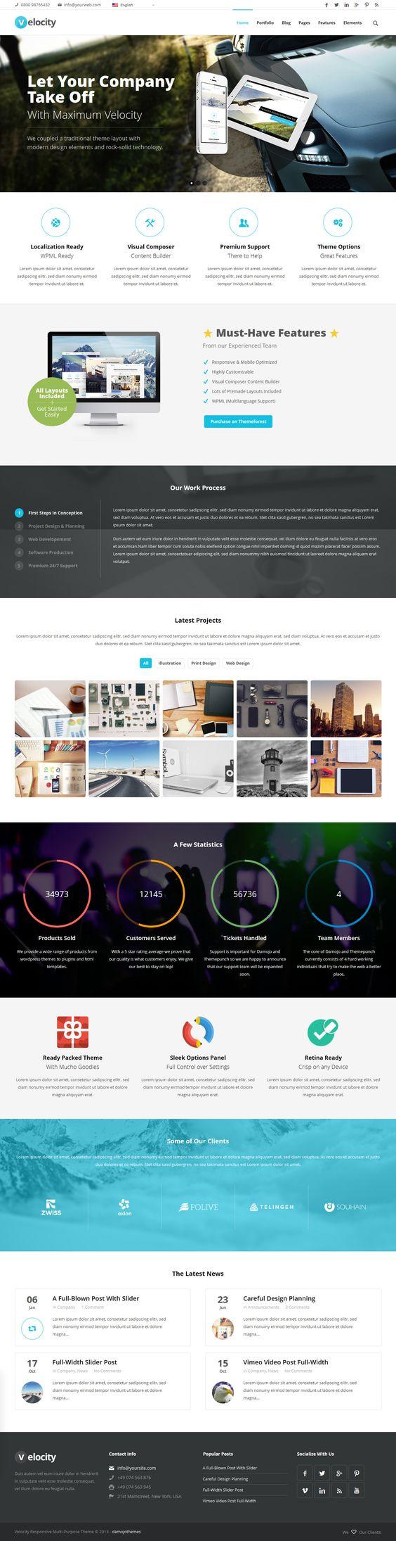 Velocity from ThemeForest - a awesome wordpress theme.