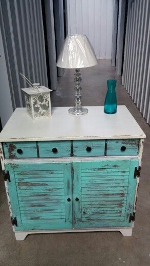 Shabby Chic Shutter End Table