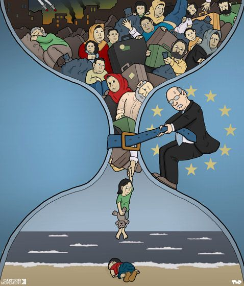 Refugee Crisis, The Death And Cartoon On Pinterest
