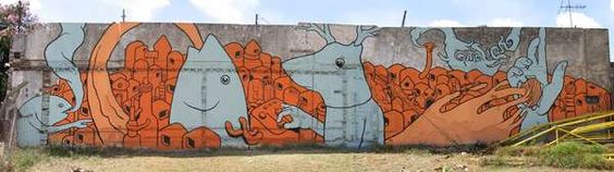 Gualicho's Graffiti is Colorful and Imaginative #graffiti trendhunter.com
