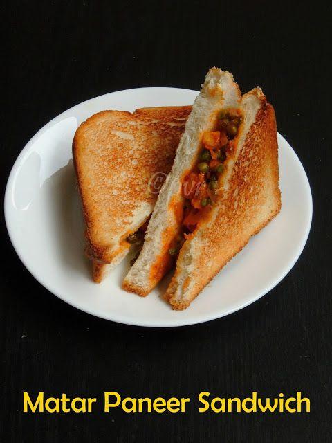Matar Paneer Sandwich/Peas Paneer Sandwich