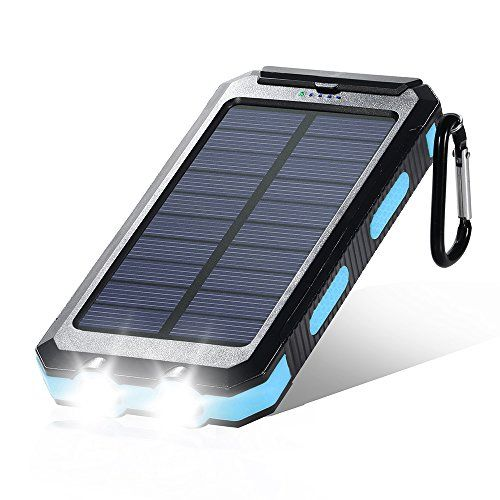 Dostyle Solar Charger, 10000mAh Dual USB Solar External Battery Pack Phone…