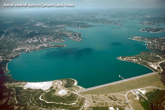 Image Detail for - Aerial view of dam in Canyon Lake, Texas.