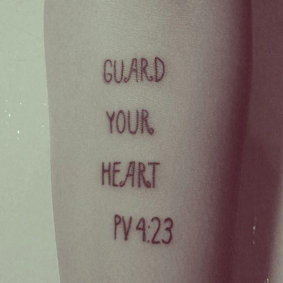 Guarde seu coração