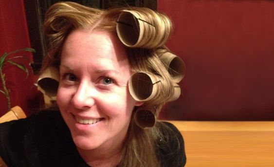 Hair rollers. Roll dry hair up in TP rolls instead of curlers. Secure with bobby pins and leave in for about an hour. When you take them out, your hair should be fuller with a little wave at the bottom. Personally, this did not work that well for me, but others swear by it, so why not give it a try? If nothing else, your husband will get a good laugh out of it. #Vocalpoint