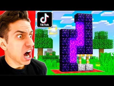 New Tiktok Minecraft Hacks To Prank My Friends They Worked Youtube Minecraft Tips Minecraft Minecraft Videos
