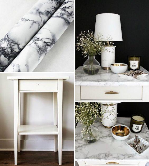 Mit Marmor Klebefolie Möbel stylisch aufpeppen