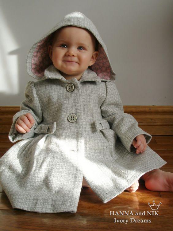 Wool Tweed Coat for little Princess