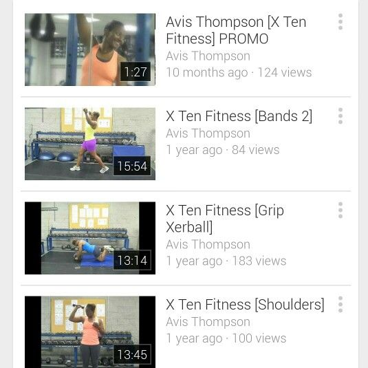 My 10 min Workout Videos on YOUTUBE! I