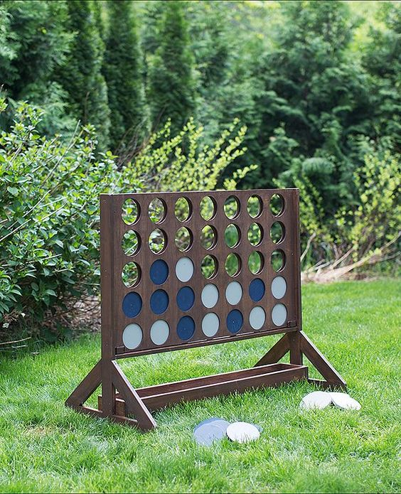 This backyard game is guaranteed family fun! We have the step-by-step instructions to build this over-sized, outdoor version of Four-in-a-Row. See it on The Home Depot Blog.:
