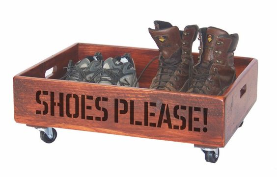 Put your shoes and boots in this handy holder and don't track up the house and personalize it to add some extra fun.