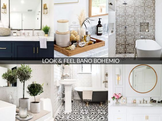 look and feel baño bohemio
