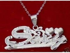 COOL Sexy hot cute girls sterling silver pendant women heart