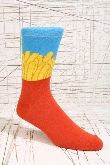 Socken mit Pommes-Motiv bei Urban Outfitters
