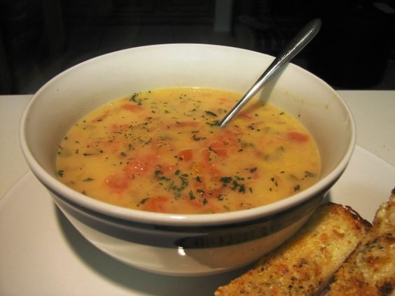 Tomato Chowder: A comforting soup that I like to make on the weekend and enjoy for lunch throughout the week.