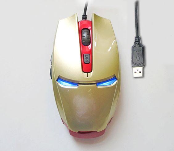 """Si de los vengadores, Iron Man es tu favorito, querrás este """"mouse/ratón"""" para tu computadora y tenerlo siempre al alcance de tu mano."""