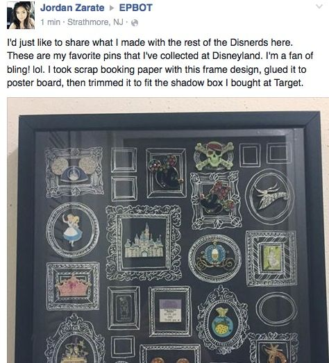 EPBOT: Mailbag Show & Tell: A Stunning Steampunk Wedding & DIY Disney Pin Display  I need that faux chalkboard frame paper! At hobby lobby.