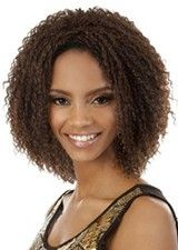 Vibrant Mid-length Curly Full Lace African American Wig