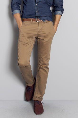 Alliance chemise en jean et chino beige ceinture mode homme pinterest costumes chemises - Jean mode homme ...