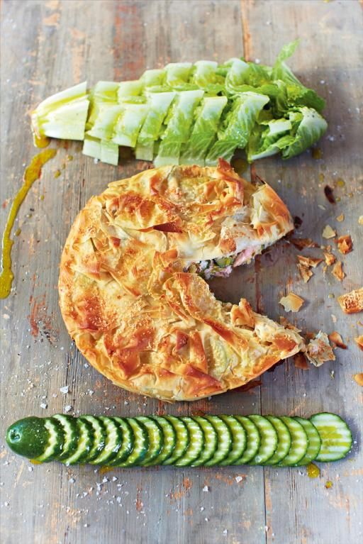 Salmon filo pie recipe a well pastries and salmon pie for Fish pie jamie oliver