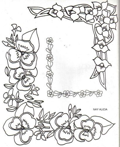 Esquinas de flores para colorear buscar con google - Cenefas para dibujar ...