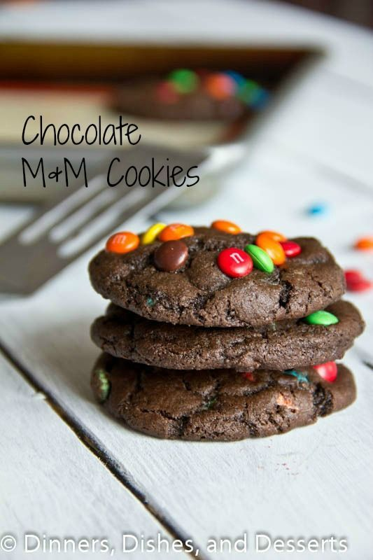 This and chewy chocolate cookies with lots of M&M's!  So good and sure to cure any chocolate craving.